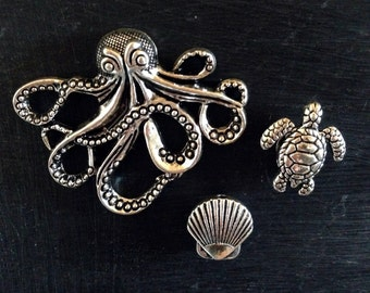 Seaside Needle Minder - Strong Neodymium Magnet - Octopus, Sea Turtle, Sea Shell
