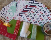 """BONUS DIY Stampin' Up! Kit Retired """"Martime"""" DSP and Ribbon Sampler, Whale, Octopus, Sailor Knots, Anchors, Flags,  A2 Card Layers or Tags"""