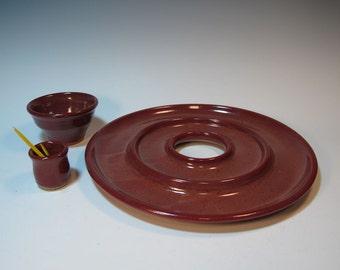 Appetizer Antipasto Three Piece Interchangable Set - Handmade