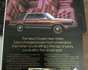 Chrysler New Yorker 1881 ad 6 1/2 x 10 approx.