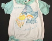 Vtg Care Bears Baby Romper - Size 3 Months / 0 to 13 Lbs  - 1983 - American Greeting Corp - NB Newborn