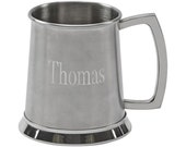 Stainless Tankard Stein with engraving