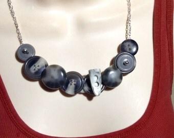 Dinas horn button necklace