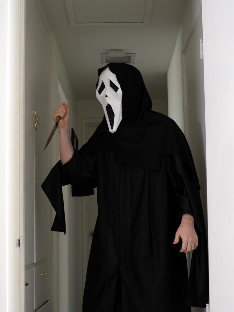 DIY Scream Mask - Paper Pattern Instant Download | Halloween Mask ...