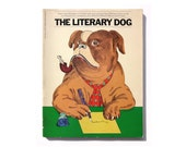 "Seymour Chwast book cover design, 1978. ""The Literary Dog"" edited by William Maloney & Claude-Jean Suarés"