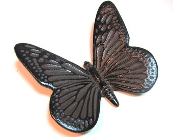 Japanese Iron Butterfly Scroll Weight/ Paperweight