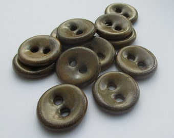Brown Proper Potter's Ceramic Buttons