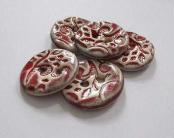 Red Chilli Ceramic Buttons