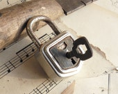 Reserved for Sweetpea - Vintage Working Padlock -  Old Padlock  (N-76)