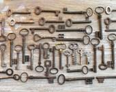 Reservewd for Doris - Wholesale Vintage keys - Genuine Iron Keys - 200 Old Skeleton Keys (W)