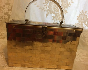 Vintage Dorset Rex Basket Weave Box Purse