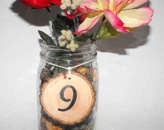 Wood Table Numbers ~ Hanging Wood Table Number ~ Rustic Wedding ~ Wedding Table Number ~ Woodland Wedding ~ Baby showers