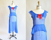 Vintage 1930s SILK chiffon dress