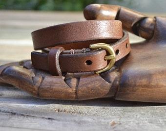 Classic Brown Leather Bracelet Original Design, Hand Made, Mens Brown Leather Bracelet, Leather Bracelet, Womens Brown Leather Bracelet