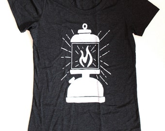 Lantern WOMENS T-Shirt  -  Available in S M L XL and three shirt colors  -  hiking camping