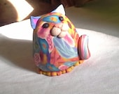 Cute Flowered Kitty Cat Pudgie