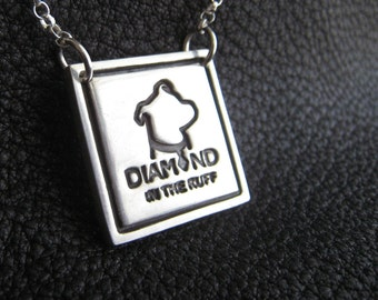 Custom Sterling Silver Pendant Necklace Medallion with Business or Charity Logo