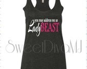 Running Fitness Workout Tank Top Hot You May Address Me As Lady Beast