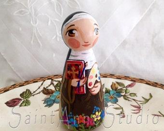 Saint Catherine of Bologna Catholic Saint Doll Toy - Made to Order