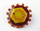 Hepatitis C Virus Fused Glass Brooch Pin