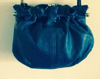 Italian leather vintage sz m handbag purse crossbody shoulder bag made in italy