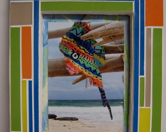 Photo Picture Frame Mosaic Stained Glass