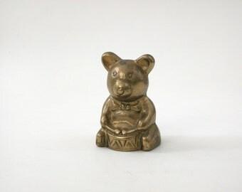 Vintage Brass Drumming Bear