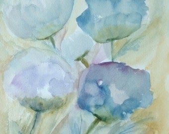 Mother's Flowers Abstract Art Print