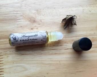 Honeysuckle Perfume Oil, vegan perfume, roll on perfume, floral perfume, classic perfume, feminine perfume