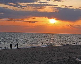 Sunset Photography, Ocean Photography, Seascape Photography, Nature Photography Cape Cod, Wall Art, Home Decor, 8 x 10 Color Print