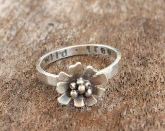 Wild and Free Daisy Ring