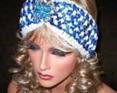 50% OFF SALE Fall Winter Vintage Style Reproduction Rhinestones Butterfly Brooch Head Wrap Turban
