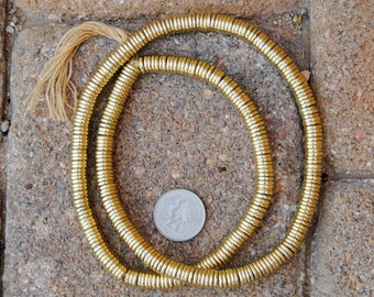 Indian Gold Metal Disk Beads