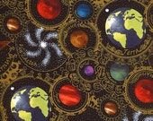 Planets Black - Celestial Collection - In the Beginning - Jason Yenter - Half Yard