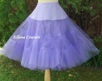 READY to SHIP. DISCOUNTED pricing. Lavender Tea Length Crinoline. Extra Fullness Petticoat. Size S.