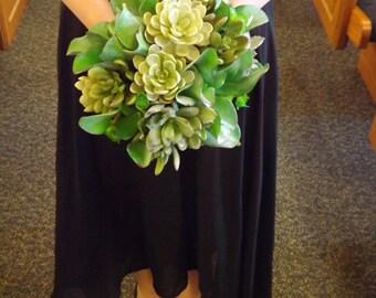 Succulent bridesmaids bouquet