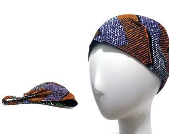Yoga Headband - Workout Headband - Fitness Headband - REVERSIBLE - Running Headband - Purple - Boho Wide Headband