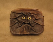 RESERVED for Hege ONLY - Grichels leather belt pouch - distressed brown with custom glittery gold eyes