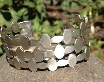 Renoir Sauteur Sterling Silver Modernist Cuff Bracelet – Mid Century 1950s Jewelry