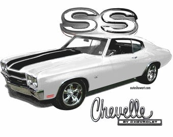 1970 CHEVELLE SS Car T-Shirt Muscle