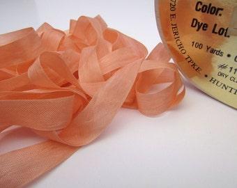 Seam Binding, Peach Rayon Ribbon, ONE Spool Trim, Knitting Ribbon, Half Inch Wide, Crocheting Ribbon, Peach Binding, 100 Yards, Gemini Innov