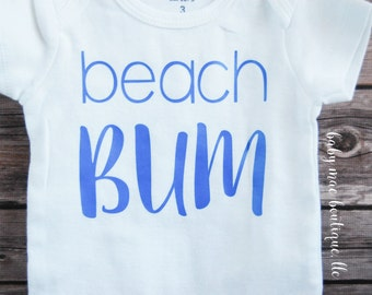 Beach Bum Bodysuit; Baby's First Summer; Baby Boy Bodysuit; Baby Boy Summer Bodysuit