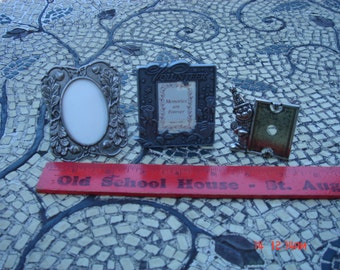 Vintage Silver Metal Miniature Photo Frames (3) - An Instant Collection