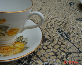 Vintage Consort Fine Bone China Teacup and Saucer - Made in England