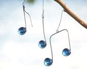 Three Glass Music Notes Blue and Silver Colored Suncatcher Ornaments Fun Gift Idea for Music Lover Handmade in Canada