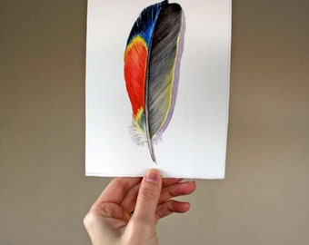 Parrot Feather - Original Watercolor Study