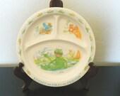 Eden Divided Melamine Plate - Kermit The Frog and Friends - Jim Henson Children's Plate