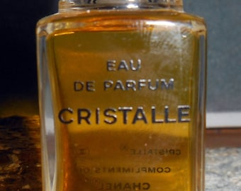 Miniature Chanel Cristalle Perfume Parfum .64oz Vanity Collectible Full Designer Fragrance
