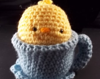Tea Cup Pet - Yellow Duck and Sage Tea Cup