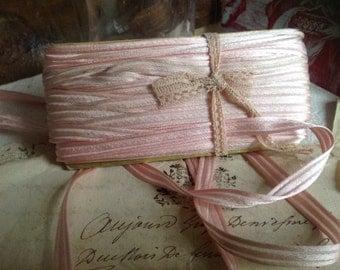Vintage Pink Trim French Ribbon Tape Ballet Dolls & Bears Home Decor 5 yd NOS